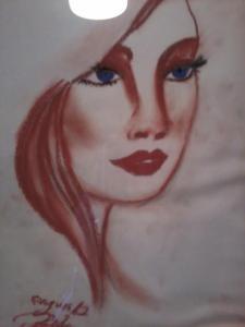 drawing of a sad girl
