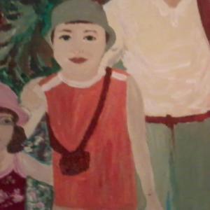painting of Marko in safari